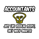 Funny t-shirts for accountants. Clever accountant shirts and gifts.