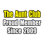 Proud aunt shirts and apparel. Gifts and shirts for aunts.