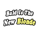 'Bald Is The New Blonde' funny chemo shirts and gifts