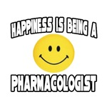 'Happiness is Being a Pharmacologist' shirts and gifts