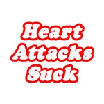 'Heart Attacks Suck' shirts and gifts for heart attack survivors