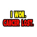 'I Won. Cancer Lost.' cancer survivor shirts and gifts
