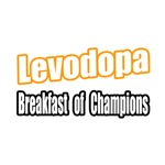 'Levodopa for Breakfast' Funny Parkinson's shirts and gifts
