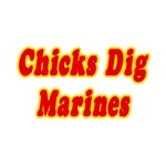 'Chicks Dig Marines' shirts and gifts for Marines girlfriends and wives