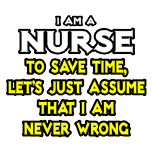 Funny nurse t-shirts and apparel. Humorous nurse gifts and shirts.