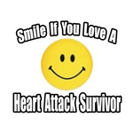 'Smile If You Love a Heart Attack Survivor' shirts and gifts