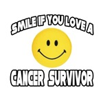 'Smile If You Love a Cancer Survivor' shirts and gifts